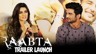 Raabta Trailer Launch | Sushant Singh Rajput & Kriti Sanon | Press Conference