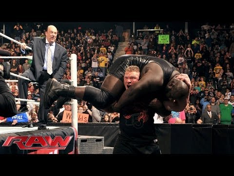 Brock Lesnar returns to WWE with the WWE World Heavyweight Title in his sights: Raw, Dec. 30, 2013 - WWE Wrestling Video