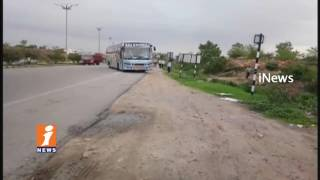 RTA Officials Raids on Private Travel Buses at Pedda Amberpet Ring Road   13 Buses Sized   iNews