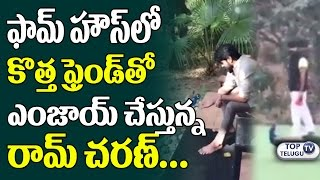 Ram Charan Tej Playing with Peacock | Ram Charan Latest Videos | Sukumar | Top Telugu TV