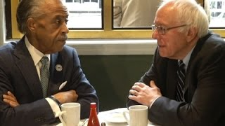 Raw- Sanders, Sharpton Meet at Sylvia's in NYC News Video