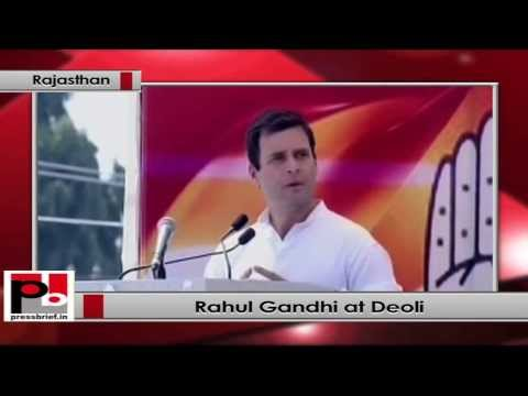 Rahul Gandhi in Rajasthan- BJP wants to serve the rich, but Congress works for the poor
