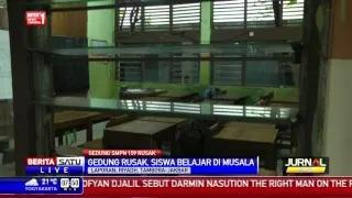 Gedung SMPN 159 Jakarta Barat Rusak Parah