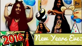 New Years Eve Guide 2015 | DIY Treat, Decor & Party Hats