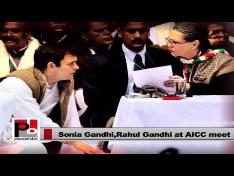 Sonia Gandhi, Rahul Gandhi- New India, New Vision
