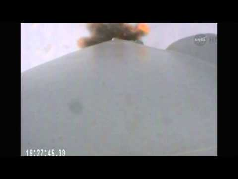 Raw- Space X Launches to Space Station News Video