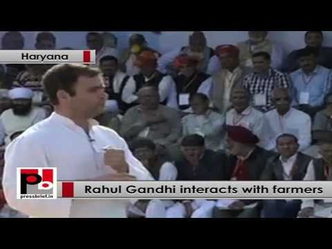 Rahul Gandhi interacts with farmers, talks about Land Acquisition Bill