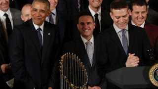 History, humour unite as Obama honours Chicago Cubs