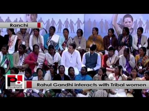 Rahul Gandhi holds interactive session with Tribal women in Jharkhand