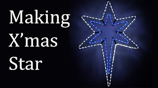 Making a star - LED Christmas star