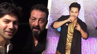 Varun Dhawan BEST MIMICRY On Sanjay Dutt At Tamma Tamma Again Song Launch