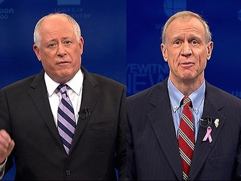 Ill. Governor, Challenger Spar Over Economy News Video