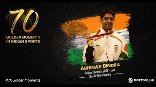 Abhinav Bindra - Beijing Olympics, 2008 - Gold | 70 Golden Moments In Indian Sports