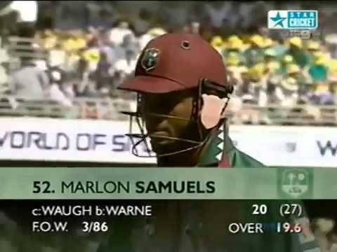 STUNNER Mark Waugh Classic slip catch Australia v West Indies 2001 - Cricket Classic Video