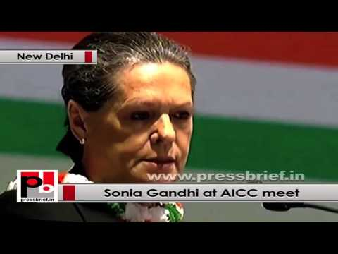 Sonia Gandhi at AICC Session- The best tool to fight such discrimination is education