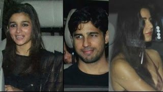 Alia Bhatt, Katrina, Jacqueline | Sidharth Malhotra's Birthday Bash