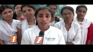 Sasikanth Yoga Asanas In Kamineni Medical Sciences & Reserch Center | International Yoga Day | iNews