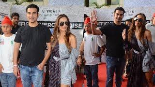 Malaika Arora & Arbaaz Khan At Justin Bieber India Concert