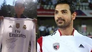 Cristiano Ronaldo Gifts Signed Jersey To John Abraham