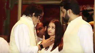 Abhishek, Amitabh Bachchan At Aishwarya Rai's Father's Chautha