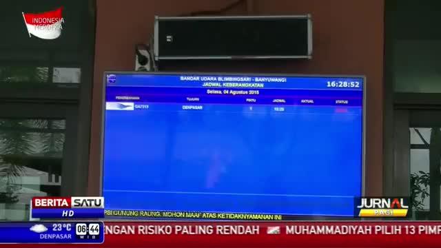Raung kembali Semburkan Abu Vulkanik, Bandara Blimbingsari Ditutup