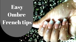 EASY OMBRE FRENCH TIPS (WITH KITCHEN SPONGE)