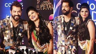 Manu Punjabi With fiancee Priya Saini At Golden Petal Awards
