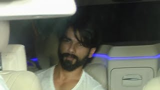 Shahid Kapoor At Karan Johar's Birthday Bash 2017