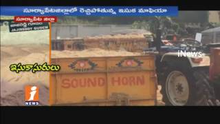 Illegal Sand Transport With Govt Officials Support In Jajireddy Gudem | Suryapet | iNews