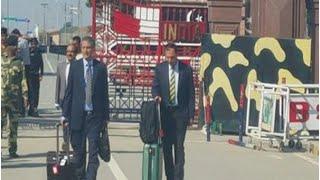 Pakistan Security Team Arrives At Wagah Border