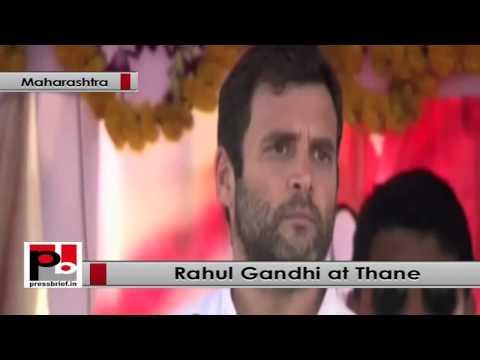 Rahul Gandhi speaks at Congress rally at Thane(Maharashtra)