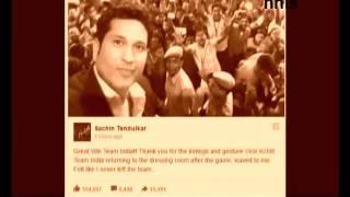 Tendulkar Thanks Virat Kohli  For His Innings And Gesture