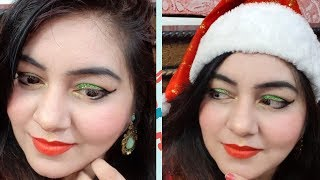 How to do Makeup - Christmas Special 2017 - Easy Glitter Eyes Parlour type Makeup | JSuper kaur