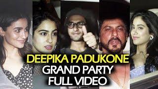 Deepika Padukone GRAND PARTY Full Video   Shahrukh Khan, Ranveer, Alia Bhatt   Padmavati Success