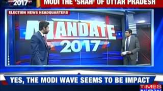 BJP to win 190-210 seats in Uttar Pradesh- Times Now-VMR exit poll