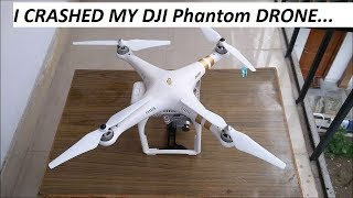 I CRASHED MY DJI Phantom DRONE. Its GONE...