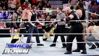 Dean Ambrose, The Usos & Dolph Ziggler vs. The Wyatt Family: SmackDown