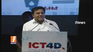 IT Minister KTR Speech In ICT 4D Conference In HICC | Hyderabad | iNews