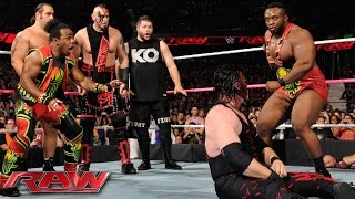 Demon Kane vs. Seth Rollins - Lumberjack Match: WWE Raw, October 12, 2015