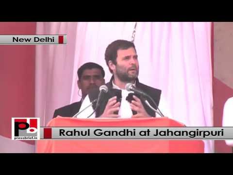 Delhi polls- At Jahangirpuri rally, Rahul Gandhi slams BJP, AAP