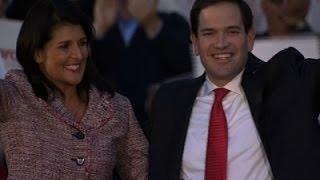 South Carolina Gov. Haley Endorses Marco Rubio News Video
