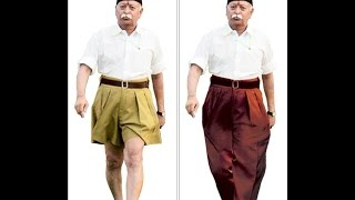 BREAKING NEWS:DRESS EVOLUTION OF RSS-RSS gets new uniform, replaces khaki shorts with brown pants