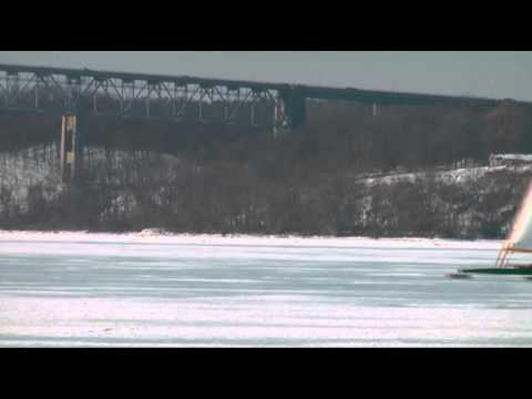 'Ice Yachts' Turn Frozen River Into Highway News Video