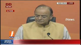 Finance Minister Arun jaitley Addresses Media On 1 Year Of Demonetisation | iNews