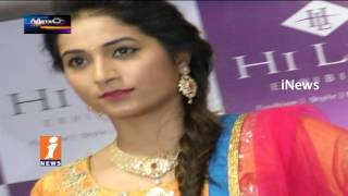 Models Fashion Ramp Walk For Designer Expo In Hyderabad | Metro Colours | iNews
