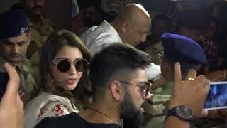 Virat Kohli and Anushka Sharma Arrives to Mumbai after Delhi Reception
