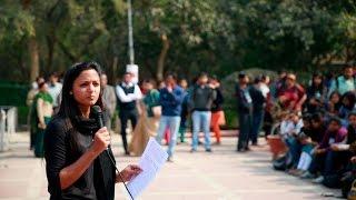 JNUCrackdown- Shehla Rashid Shora addresses JNU students