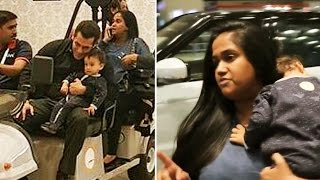 "Salman Khan PLAYING With Cute Ahil, Arpita WARNS Media ""DON'T SHOOT, My Baby Is Sleeping"