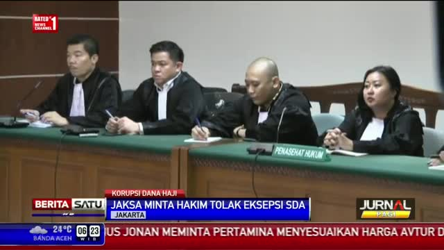 KPK Meminta Majelis Hakim Menolak Eksepsi SDA