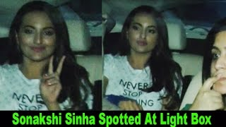 Sonakshi Sinha Spotted At Light Box With Her Family
